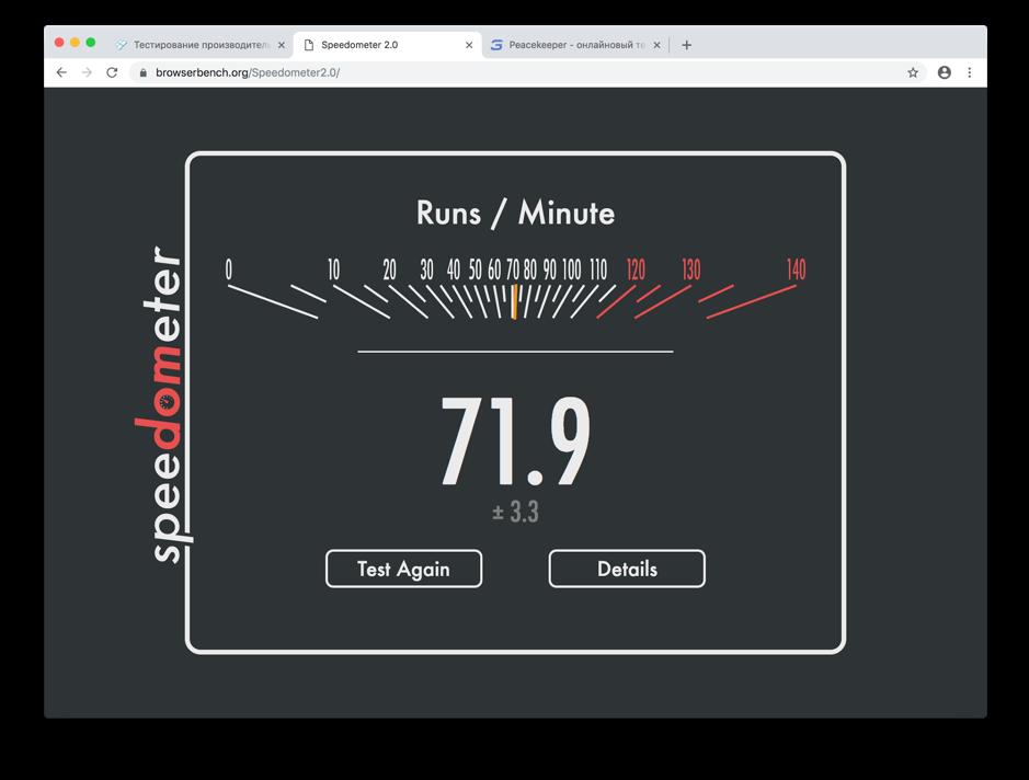 Скорость Chromium для Mac OS
