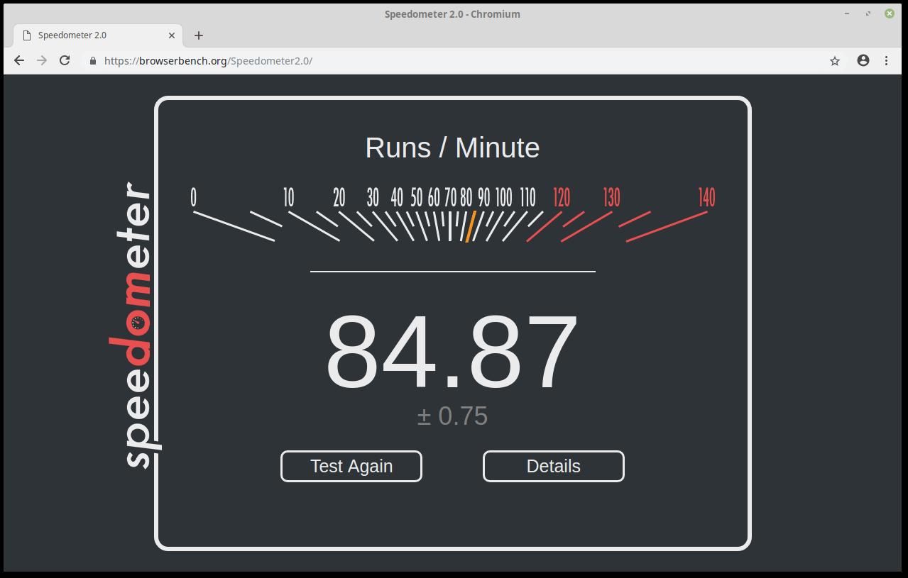 Скорость Chromium