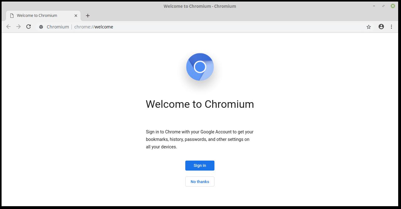 Главная страница Chromium